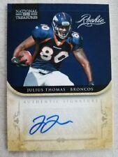 2012 Panini National Treasures Julius Thomas Auto Rc rookie # 88/99 Dolphins
