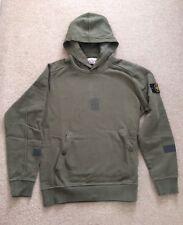Supreme x Stone Island Hooded Sweatshirt Olive Size Large L 100% Authentic