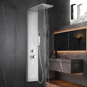 Pannello colonna doccia in acciaio con miscelatore cascata idromassaggio Sirmion