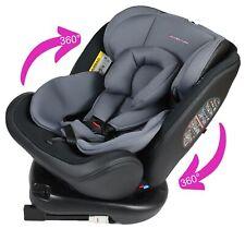 Bonio Kindersitz 360 /° Drehung Baby Autositz Gruppe 0+//1//2//3 0-12 Jahre alt ISOFIX und LATCH Schnittstelle mit Seitenschutz f/ür Babys 0-36kg Schwarz-5