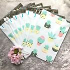 20 Pcs - Designer Printed Poly Mailers 10X13 Shipping Envelopes Bags SUCCULENT