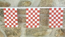 Red & White Checkered Flag Polyester Bunting - Various Lengths