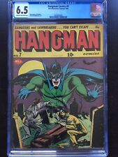 HANGMAN COMICS #7 CGC FN+ 6.5; CM-OW; rare issue! graveyard cover!