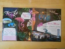 VEGAS FLAMINGO AERIAL PHOTO BROCHURE VINTAGE HOTEL CASINO NEVADA OLD EARLY
