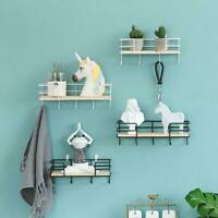 Wall Hanging Shelf Swing Floating Shelves Wall Display Rack with Wall Key Hook