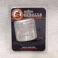 Oxballs Squeeze Ballstretcher Clear Scrotum Ball Stretch Slapping Ring Flex TPR