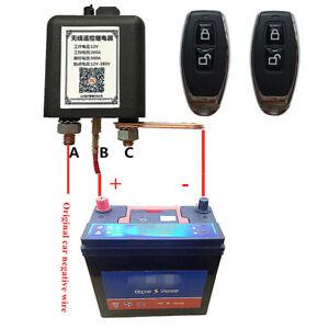12V Auto Pkw Batterie Trennrelais Trennschalter Universal mit 2x Fernbedienung