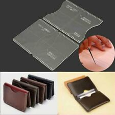 Acrylic Clear Craft Pattern Template Set Tools For Leather Wallet Bag Craft