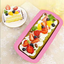 Rectangle Silicone Bread Loaf Cake Mold Non Stick Bakeware Baking Pan Oven Mould