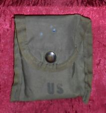 GI SURPLUS 1ST AID/COMPASS POUCH W/CAMO DRESSING, STAMPED, ALICE CLIP, GOOD!