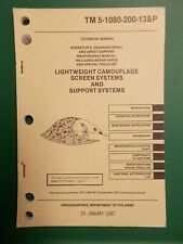 Army Lightweight Camouflage Screen Systems&Support Systems Book