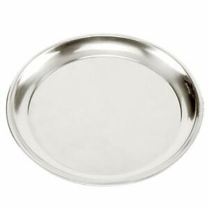 "Norpro Heavy Gauge Stainless Steel 15.5"" Professional Pizza Pan Serving Tray"