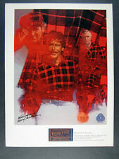 1983 Pendleton Holiday Tartan Shirt Robe Scarf Hat fashion art vintage print Ad