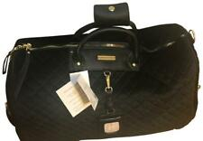 Adrienne Vittadini Duffle Unisex Quilted Black Velvet Weekend/Travel Bag