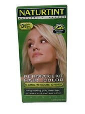 Naturting 10N Light Dawn Blonde Permanent Hair Color Lasting Gray Coverage