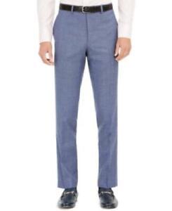 $175 Tallia Orange Men's Slim-Fit Stretch Blue Plaid Suit Pants Navy Size 38X34