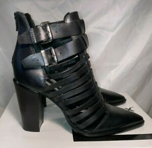 Bronx Womens Americana Strappy Zip Ankle Boots Black Size UK 6 / 39 rrp£120