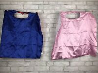 Set of 2- Reversible Cape Child 2-7 Costume Superhero Dress-up Pink Blue Red