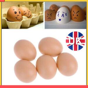 5-10 Fake Dummy Egg Hen Poultry Chicken Joke Prank Plastic Eggs Party Decor UK