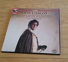VERDI Don Carlos DOMINGO/CABALLE/GIULINI 3LP EMI BOX SET