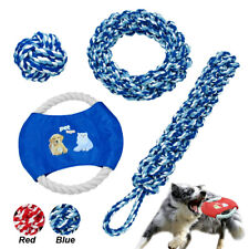 Aggressive Chew Toys for Large Dogs Pet Indestructible Interactive Rope Ball Tug