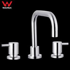 WELS 1/4 Turn Bathroom Lollypop Vanity Basin Tap Set Brass Chrome Swivel Spout
