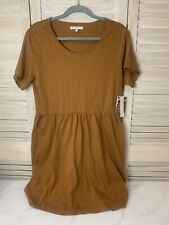 Nwt Natural By Known Supply Organic Cotton Ethical Clothing Mustard Dress Size M