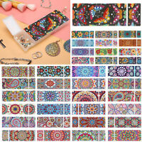 5D DIY Mandala Special Shaped Diamond Painting 2 Grids Storage Box Pencil Case