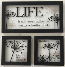 3 Wall Hangings~Life Measured by Moments That Take Our Breath Away • 100% MINT!