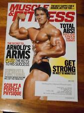 MUSCLE & FITNESS bodybuilding magazine ARNOLD SCHWARZENEGGER (label) 5-16