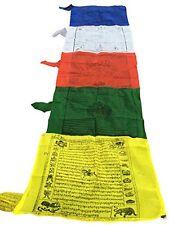 Tibetan Large Multi Color Vertical Prayer Flags