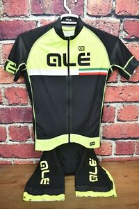 Ale Cycling Large R-EV1 Triathlon Skinsuit +PR.R Jersey Black/Yellow 2 Piece Kit