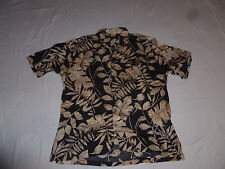 VINTAGE HONOLULU TORI RICHARD HAWAIIAN BUTTON SHIRT LEAVES LAWN MENS SIZE XL >>