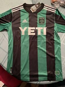 Austin FC 2021 INAUGURAL Yeti Soccer Jersey Mens Size XL Fútbol MLS