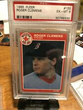 1985 FLEER # 155 ROGER CLEMENS PITCHER RED SOX EX-MT 6 CARD