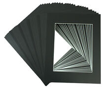 50 set of Black 12x12 Photo Mats for 8x8 + Backing