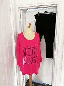 Ladies Pretty Secrets Christmas Pyjamas Plus Size 24/26 NWT