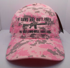 Womans 2nd Amendment Gun Rights Pink Camo Hat Cap New NWT H37