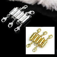 5Pcs Silver/Gold Plated Tone Magnetic Clasps Jewelry Necklace Findings Buckles K