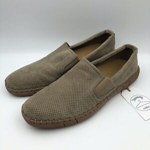 """Robert Wayne Men Shoes Casual Fabric Slip On Loafer """"Road"""" Size 11D"""