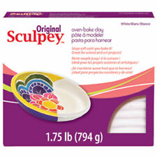795g White Sculpey Oven Bake Polymer Modelling Clay Large Block Craft Hobby