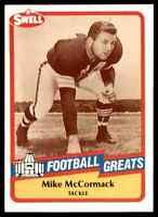 1989 Hall of Fame RED #125 Mike McCormack HOF RARE Cleveland Browns / Kansas