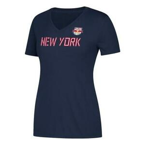 Official Women's Short Sleeve On the Pitch V-Neck T-Shirt New York Red Bulls M