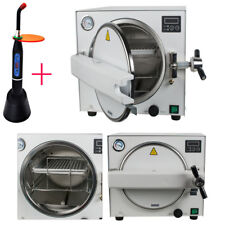18L Dental Lab Equipment Autoclave Steam Pressure Sterilizer + Gift Curing Light