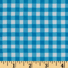 Blue Gingham Fabric, Sky Blue Fabric, Oilcloth Fabric By The Yard, Gingham Vinyl
