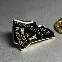 New Hampshire State Pin Vintage Brass Hat Pin Lapel Pin