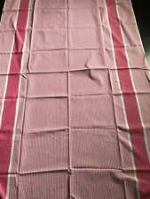 "Malaysian Pink and white striped bed 50"" double sheet - NEW"