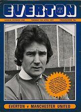 Football Programme>EVERTON v MAN UTD Apr 1977