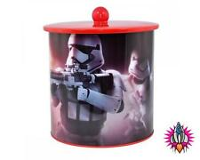 STAR WARS THE FORCE AWAKENS STORMTROOPER BISCUIT BARREL TIN COOKIE JAR NEW