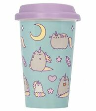 PUSHEEN TRAVEL MUG PUSHEENICORN Ceramic with LID - BLUE UNICORN